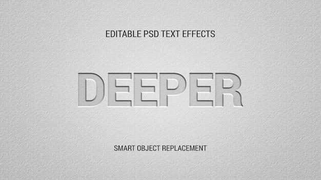 Bewerkbare teksteffecten met letterpers
