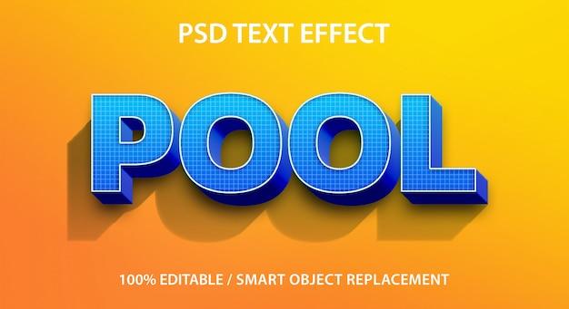 Bewerkbare teksteffectenpool