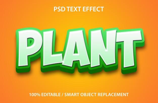 Bewerkbare teksteffectplant