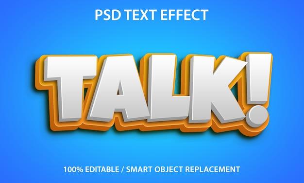 Bewerkbare teksteffectpraat