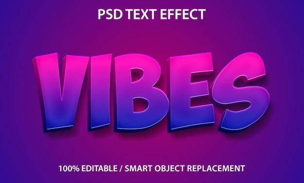 Bewerkbare teksteffectvibes