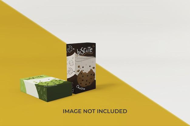 Bewerkbare voedselverpakking mockup ontwerpsjabloon