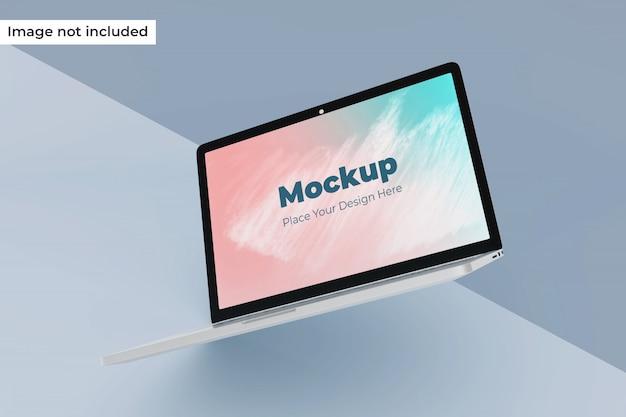 Bewerkbare zwevende laptop