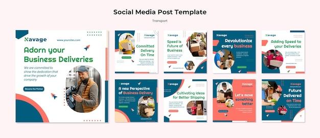 Bezorging transport social media posts