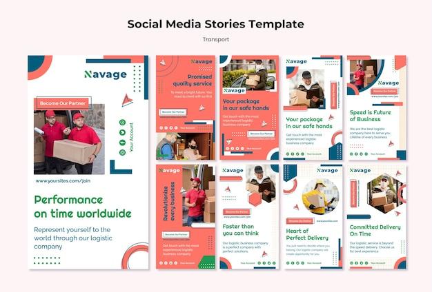 Bezorging transport social media verhalen