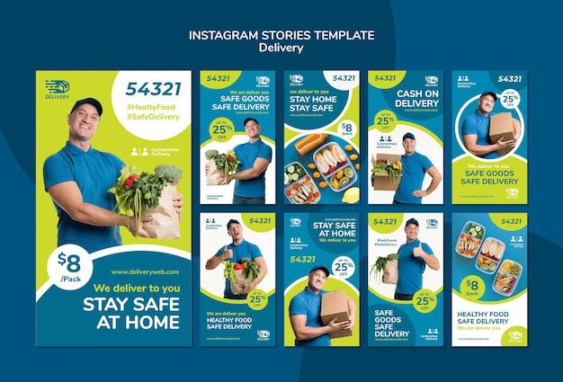 Bezorgservice instagram-verhalen Gratis Psd