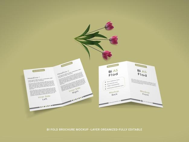 Bi-fold brochure mockup ontwerp