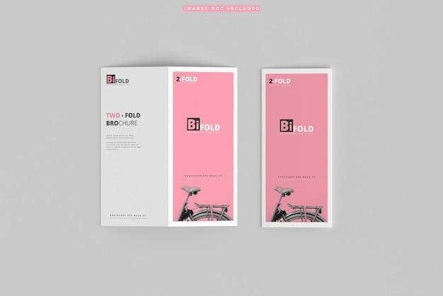 Bi-fold brochure mockups