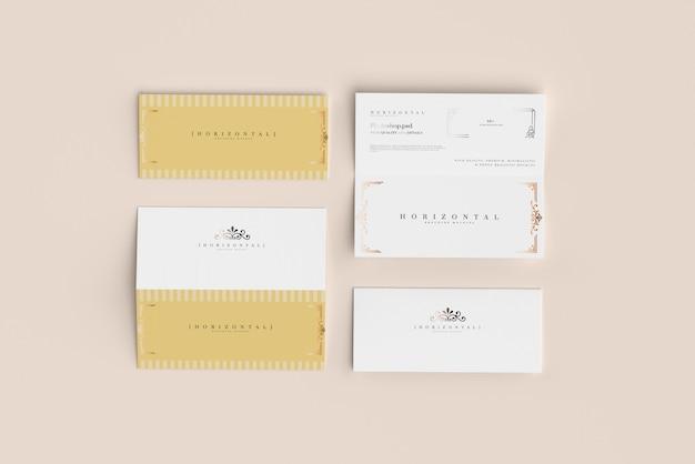 Bi-fold horizontale dl brochure mockup