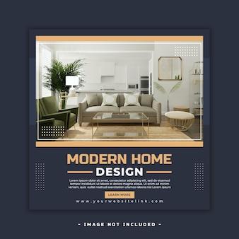 Bienes raíces casa propiedad cuadrado redes sociales diseño de banner psd