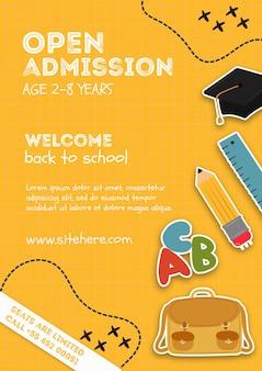 Bienvenido a la plantilla de anuncio de la escuela