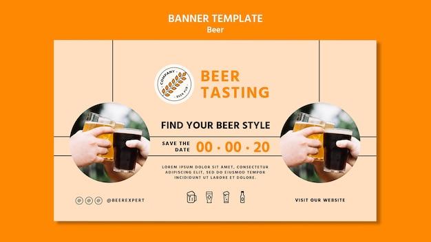 Bier concept sjabloon voor spandoek