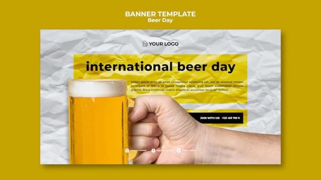 Bier dag banner sjabloonstijl