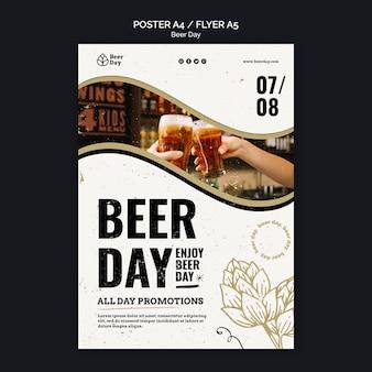 Bier dag poster sjabloon