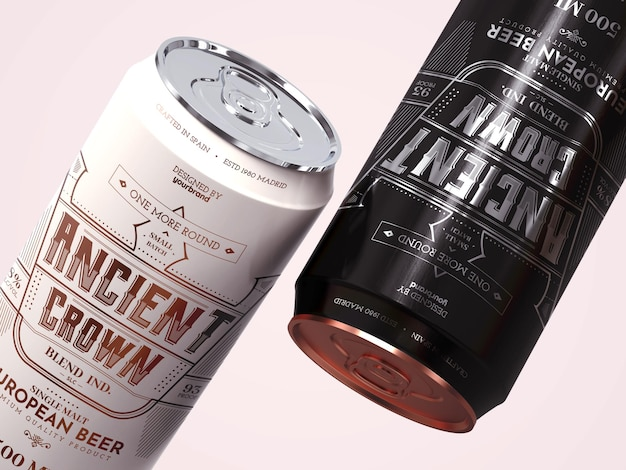 Bier kan mockup sjabloon