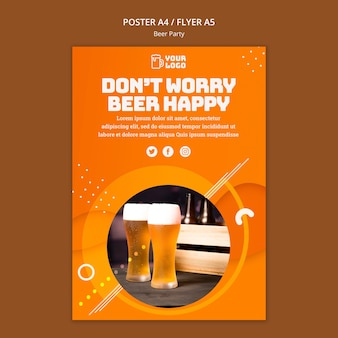 Bier partij poster thema