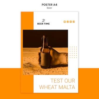 Bier poster sjabloon concept