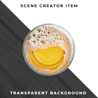 Bier transparant psd