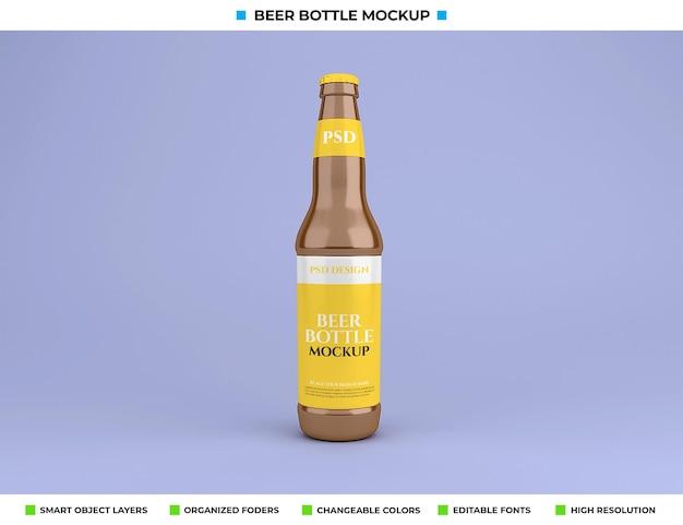 Bierfles mockup geïsoleerd