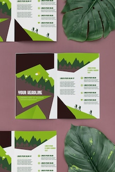 Bifold brochure concept mock-up