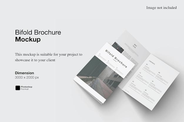 Bifold brochure mockup design geïsoleerd