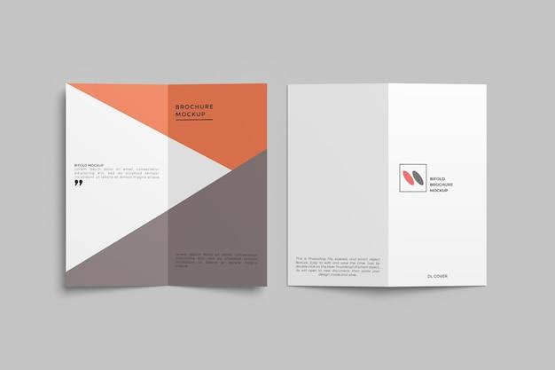 Bifold brochure mockup ontwerp geïsoleerd