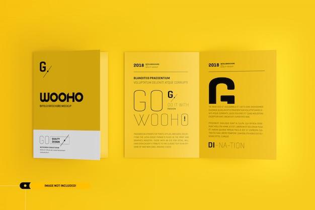 Bifold brochure mockup Premium Psd