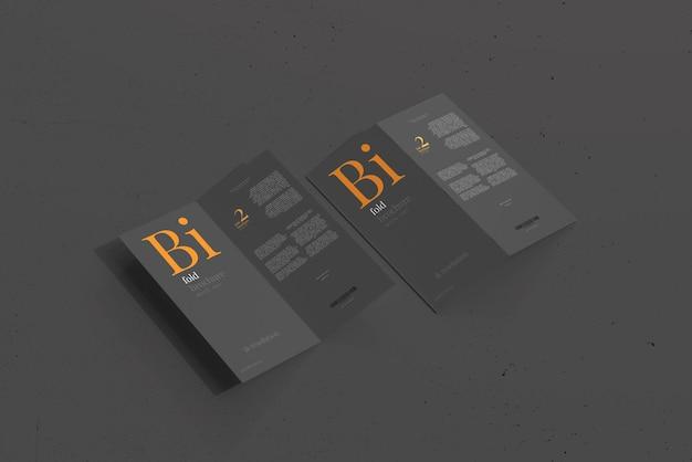 Bifold-brochuremodel in dl-formaat