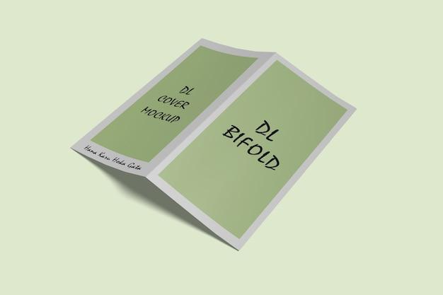 Bifold dl brochure mockup geïsoleerd