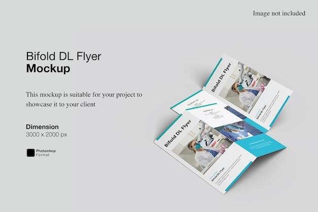 Bifold dl flyer mockup-ontwerp