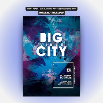 Big city club party flyer