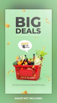 Big deal groentepakket social media bericht