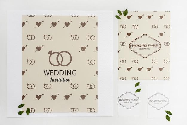 Biglietti d'invito per matrimoni eleganti