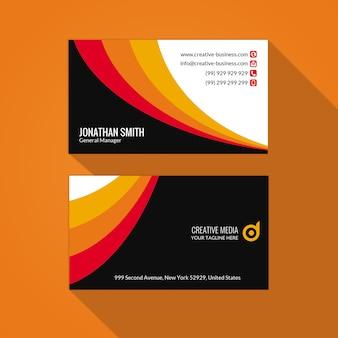 Biglietto da visita multicolore e sfondo