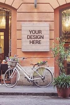 Bike uithangbord mockup