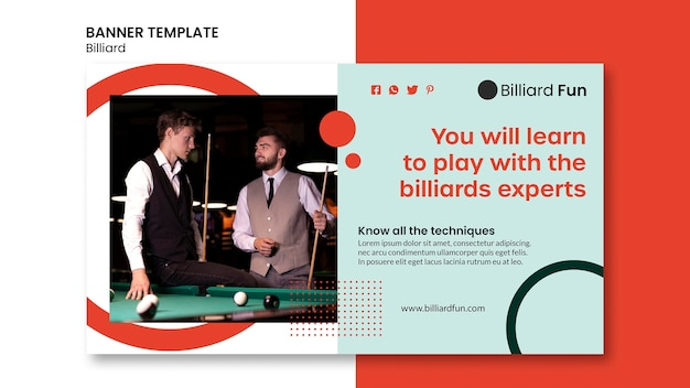 Biljart concept banner mock-up