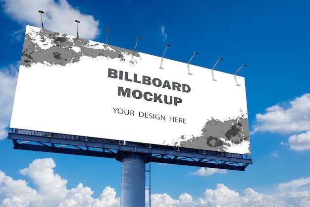 Billboard mockup-ontwerp buitenshuis