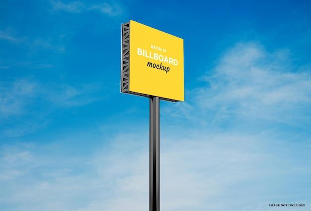 Billboard mockup-ontwerp met verwisselbare kleuren