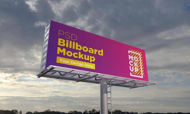 Billboard mockup-sjabloon, zijaanzicht
