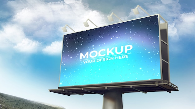 Billboard mockup-sjabloon
