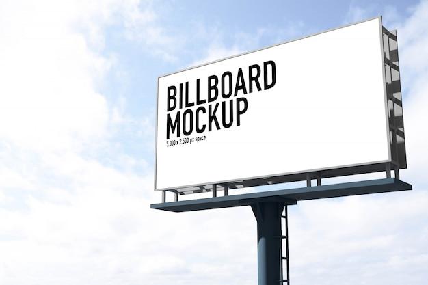 Billboard-mockup voor het maken van scènes in gratis psd