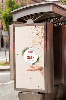 Billboardmodel met verkoop