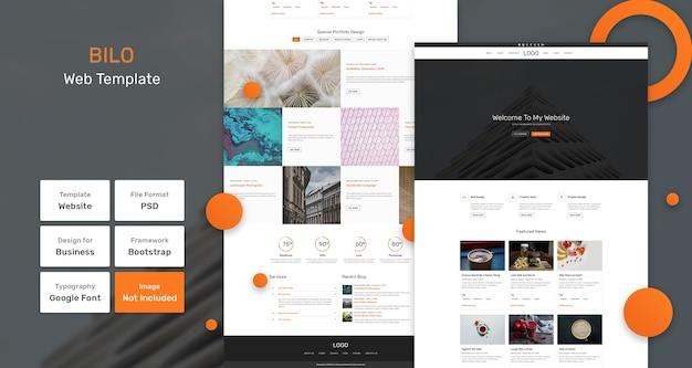 Bilo-services en marketingwebsjabloon