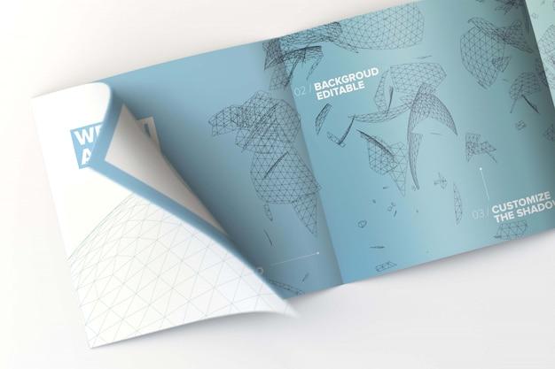 Binnen vierkant viervoudig brochuremodel