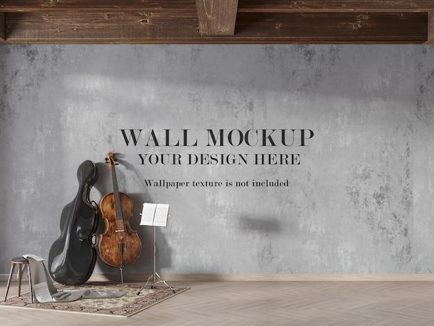Binnenmuurmodel in 3d-rendering