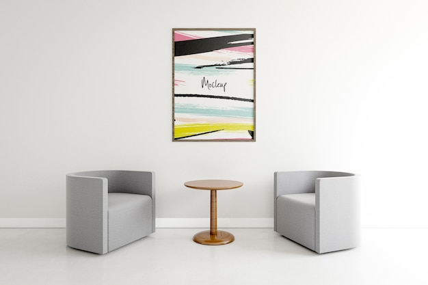 Binnensamenstelling met frame mock-up