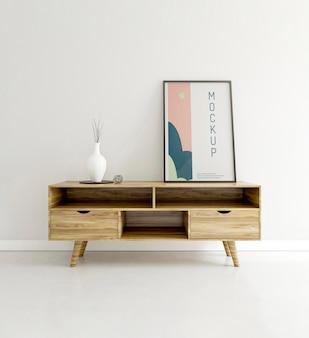 Binnenshuis assortiment met frame mock-up