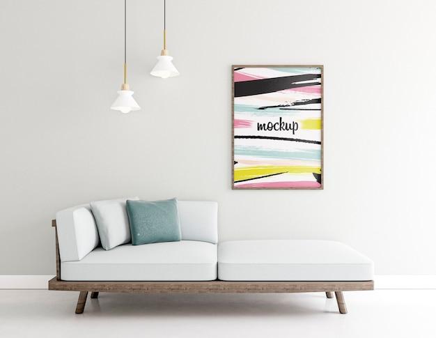 Binnenshuis opstelling met frame mock-up