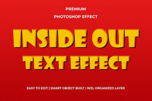 Binnenstebuiten oranje teksteffect