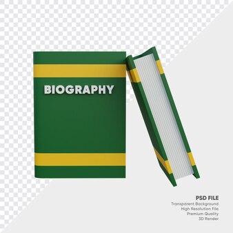 Biografie 3d-illustratie